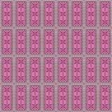 Naadloos vectorpatroon Symmetrische geometrische achtergrond met rechthoeken in roze kleuren Royalty-vrije Stock Foto