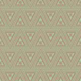 Naadloos vectorpatroon Symmetrische geometrische achtergrond met rode driehoeken op de groene achtergrond Decoratief ornament Stock Fotografie