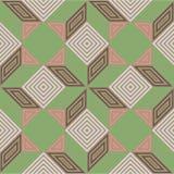 Naadloos vectorpatroon, uitstekende pastelkleurkleuren, vierkant mozaïek Royalty-vrije Stock Afbeelding