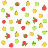 Naadloos vectorpatroon van appel Stock Afbeelding