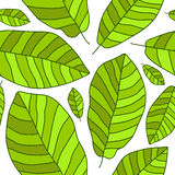 Naadloos vectorpatroon van groen banaanblad vector illustratie