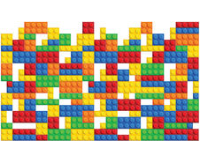 Naadloos vectorpatroon van plastic delen royalty-vrije illustratie