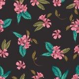 Naadloos vectorpatroon van romantische bloem vector illustratie