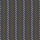 Naadloos vectorpatroon Verticale lijnen en takjes op donkere grijze achtergrond Stock Afbeeldingen