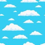 Naadloos vectorwolkenpatroon Royalty-vrije Stock Fotografie