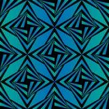 Naadloos Veelhoekig Blauw en Zwart Patroon Geometrische abstracte achtergrond Stock Foto