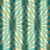 Naadloos Veelhoekig Groen en Gouden Patroon Geometrische abstracte achtergrond Royalty-vrije Stock Afbeelding