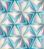 Naadloos Veelhoekig Kleurrijk Patroon Geometrische abstracte achtergrond Stock Foto
