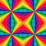 Naadloos veelhoekig patroon Geometrische regenboog Stock Fotografie