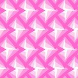 Naadloos Veelhoekig Roze Patroon Geometrische abstracte achtergrond Royalty-vrije Stock Foto