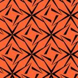Naadloos Veelhoekig Zwart en Oranje Patroon Geometrische abstracte achtergrond Stock Foto's
