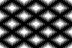 Naadloos Veelhoekig Zwart-wit Diamond Pattern Geometrische abstracte achtergrond Geschikt voor textiel, stof, verpakking en Web d Stock Foto