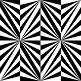 Naadloos Veelhoekig Zwart-wit Gestreept Patroon Geometrische abstracte achtergrond Geschikt voor textiel, stof en verpakking Stock Afbeeldingen