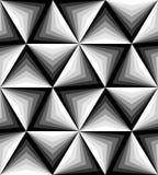 Naadloos Veelhoekig Zwart-wit Patroon Stock Afbeeldingen