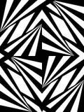 Naadloos Veelhoekig Zwart-wit Patroon Geometrische abstracte achtergrond Stock Foto