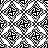 Naadloos Veelhoekig Zwart-wit Patroon Geometrische abstracte achtergrond Royalty-vrije Stock Fotografie