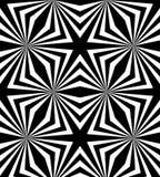 Naadloos Veelhoekig Zwart-wit Patroon Geometrische abstracte achtergrond Stock Fotografie