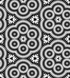 Naadloos Veelhoekig Zwart-wit Patroon Geometrische abstracte achtergrond Geschikt voor textiel, stof en verpakking Stock Foto