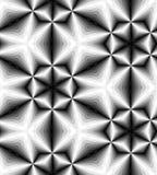 Naadloos Veelhoekig Zwart-wit Patroon Geometrische abstracte achtergrond Geschikt voor textiel, stof en verpakking Royalty-vrije Stock Afbeeldingen