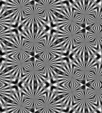 Naadloos Veelhoekig Zwart-wit Patroon Geometrische abstracte achtergrond Geschikt voor textiel, stof en verpakking Stock Afbeelding