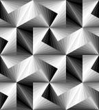 Naadloos Veelhoekig Zwart-wit Patroon Geometrische abstracte achtergrond Geschikt voor textiel, stof en verpakking Royalty-vrije Stock Fotografie