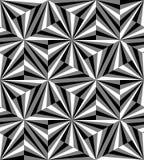 Naadloos Veelhoekig Zwart-wit Patroon Geometrische abstracte achtergrond Geschikt voor textiel, stof en verpakking Stock Afbeeldingen