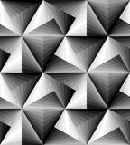 Naadloos Veelhoekig Zwart-wit Patroon Geometrische abstracte achtergrond Optische illusie van Volume en Diepte Geschikt voor text Royalty-vrije Stock Afbeeldingen