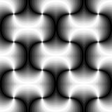 Naadloos Veelhoekig Zwart-wit Spiraalvormig Patroon Geometrische abstracte achtergrond Geschikt voor textiel, stof en verpakking Royalty-vrije Stock Afbeeldingen