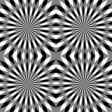 Naadloos Veelhoekig Zwart-wit Strepenpatroon Stock Foto's