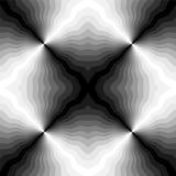 Naadloos Veelhoekig Zwart-wit Strepenpatroon Geometrische Abstracte Achtergrond met Visueel Volumeeffect Geschikt voor textiel, f Royalty-vrije Stock Fotografie