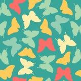 Naadloos verbazend uitstekend blauw vlinderpatroon Royalty-vrije Stock Afbeelding