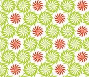 Naadloos verdraaid bloemenpatroon Royalty-vrije Stock Afbeeldingen