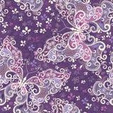 Naadloos violet bont patroon Stock Afbeelding