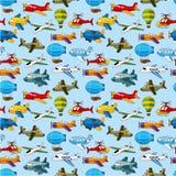 Naadloos vliegtuigpatroon Royalty-vrije Stock Fotografie