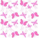 Naadloos vlinderpatroon Stock Foto
