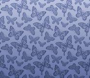 Naadloos vlinderpatroon Stock Afbeelding