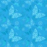 Naadloos vlinderpatroon Stock Afbeeldingen