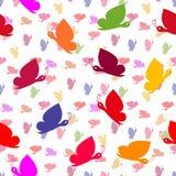 Naadloos vlinderpatroon royalty-vrije illustratie