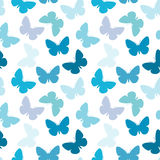 Naadloos vlinderpatroon Stock Fotografie