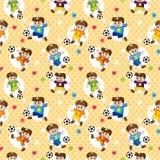 Naadloos voetballerpatroon Royalty-vrije Stock Foto