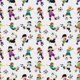 Naadloos voetballerpatroon Stock Fotografie