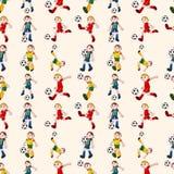 Naadloos voetballerpatroon Stock Foto