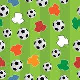 Naadloos voetbalpatroon royalty-vrije illustratie