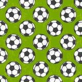 Naadloos voetbalpatroon, vectorachtergrond. vector illustratie