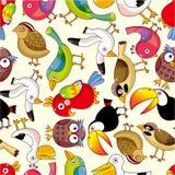 Naadloos vogelpatroon Stock Fotografie