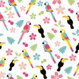 Naadloos vogelpatroon stock illustratie