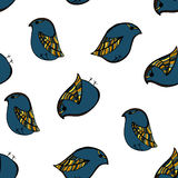 Naadloos vogelpatroon het knippen masker royalty-vrije stock fotografie