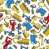 Naadloos vrachtwagenpatroon Royalty-vrije Stock Afbeeldingen