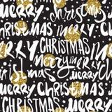 Naadloos Vrolijk Kerstmispatroon Royalty-vrije Stock Fotografie