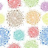Naadloos vuurwerk Stock Fotografie